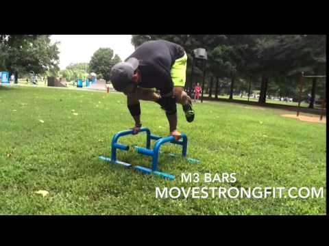 practicing the crow yoga pose on the movestrong m3 bars  youtube
