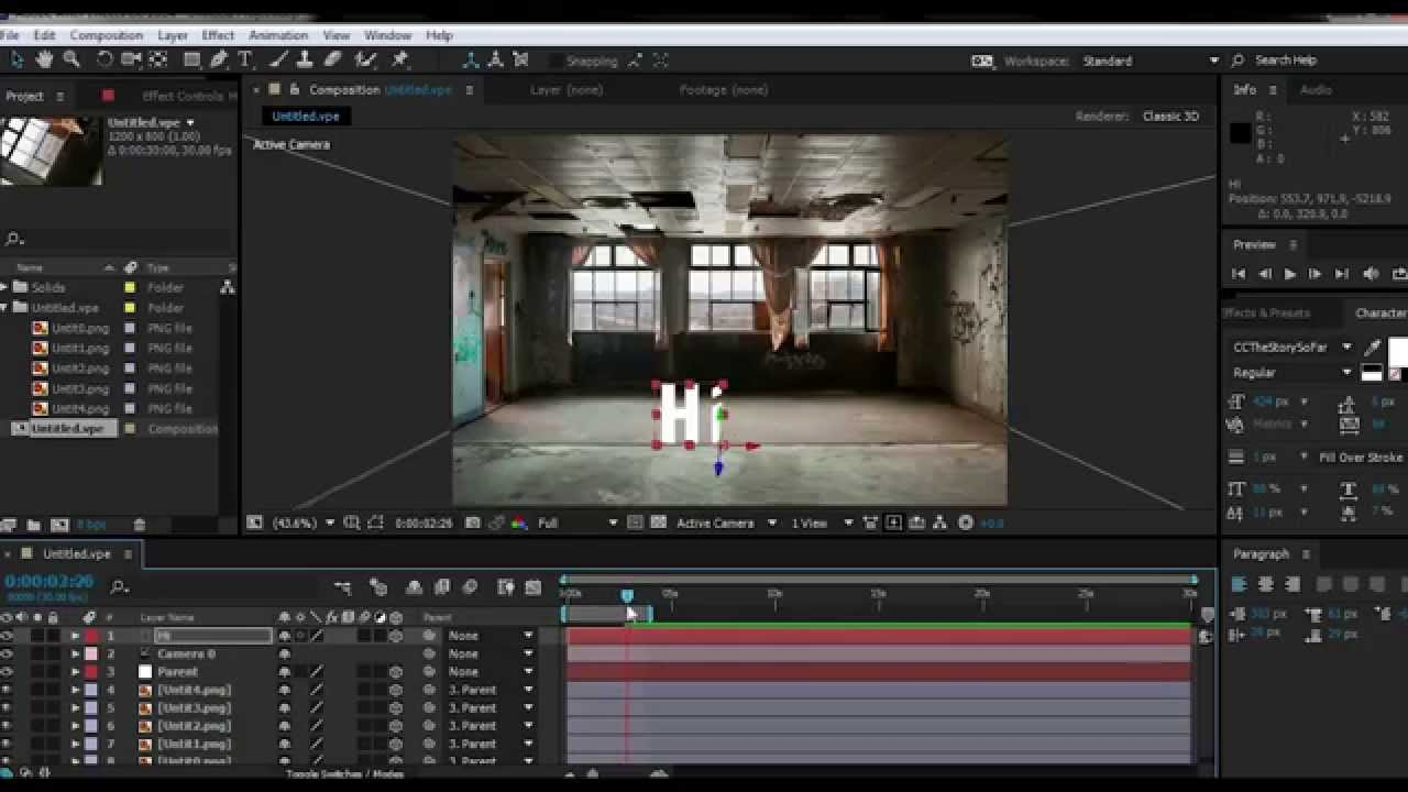 Create A 3d Room From Image After Effects Tutorial Youtube