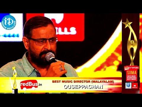 Best Music Director Malayalam Ouseppachan || SIIMA 2014, Malaysia