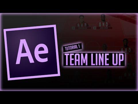 AE Tutorial | Team Line Up Segment (Basics)
