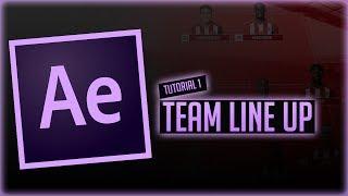 AE Tutorial   Team Line Up Segment (Basics)