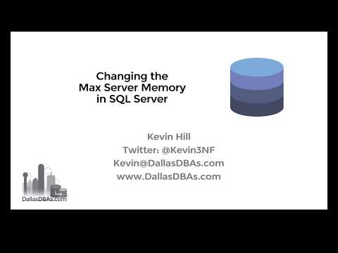 SQL Server Max Server Memory Setting