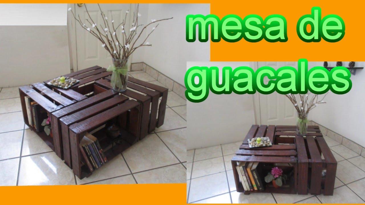 Mesa de centro diy reciclaje de guacales youtube for Ideas decoracion reciclaje