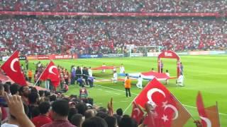 Türkiye Hollanda 3:0 Mac baslamadan önce Mehter Marsi Kadro okunurken Türkei Holland HD