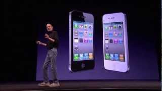 Apple WWDC 2010 - iPhone 4 Introduction(Introduced in June 2010, the iPhone 4 replaced the iPhone 3GS, and included the same Apple-designed A4 processor found in the iPad. External improvements ..., 2012-08-26T04:37:32.000Z)