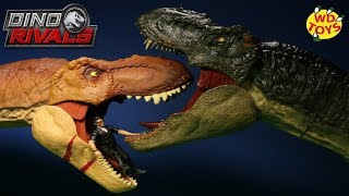 New Jurassic World Dino Rivals Battle Damage Roarin Super Colossal Tyrannosaurus Rex Unboxing Mattel