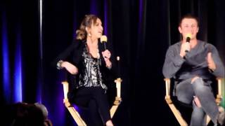 Charlie Bewley and Arielle Kebbel at TVD Chicago 2013 - What part did you originally audition for?