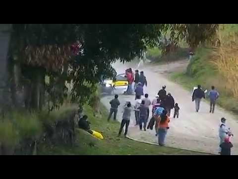 Accidente de Larry Silva en el Nacional de Rally en Riobamba
