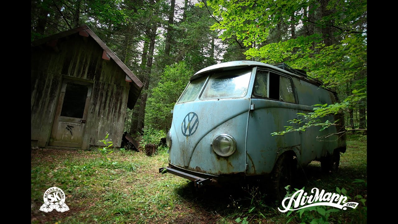 Resurrection Rescue Of A Vw 1955 Panelvan Forest Find