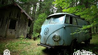 RESURRECTION - Rescue of a VW 1955 panelvan - Forest find ! thumbnail