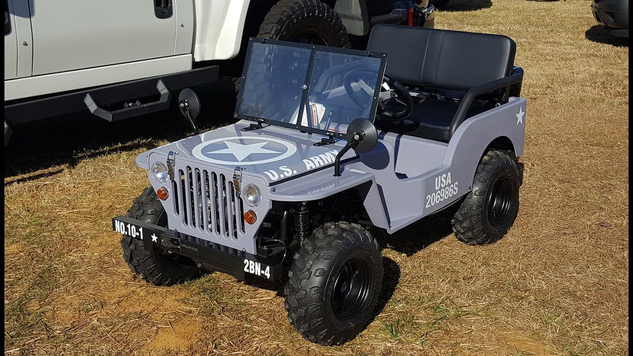 2017 Willys Mini Jeep Us Army 125cc For Sale Formula One Imports