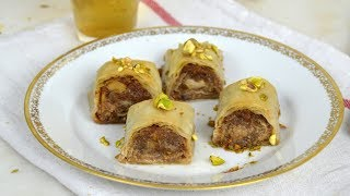 Pastelitos árabes de frutos secos con miel. Dulce árabe fácil