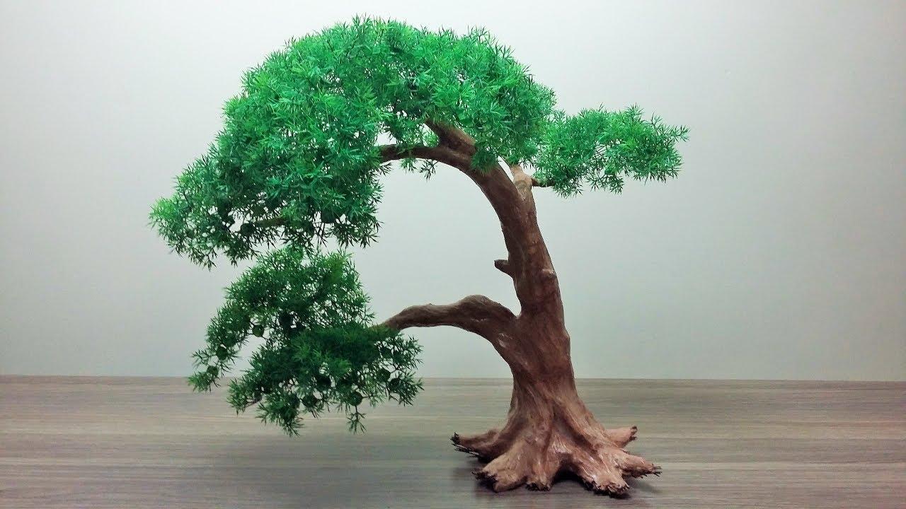How To Make A Artificial Bonsai Tree Youtube