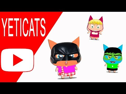 Halloween Cartoon - Cats Super Heroes chasing a Police car and Monster Track