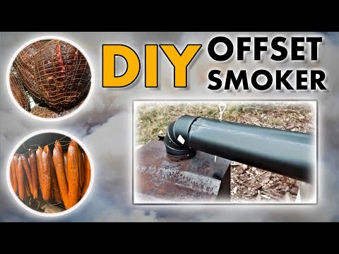 DIY Smoker | Our Woodstove Meat Smoker | How To Make A Homemade Offset Smoker For Hot & Cold Smoking