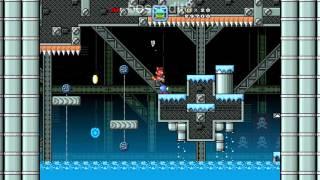 Super Mario Bros. X (SMBX) Custom Level - Iced Abandoned Factory