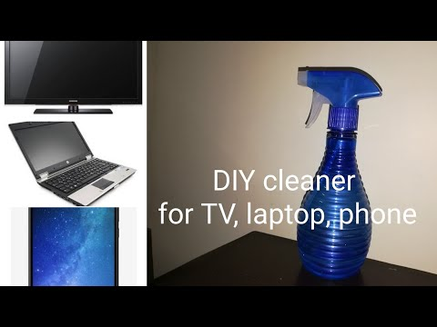 (हिंदी) DIY Cleaner for TV Laptop Phone - How to clean Lcd TV and Computer