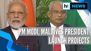 Watch: PM Modi, Maldives President jointly launch key projects in Male
