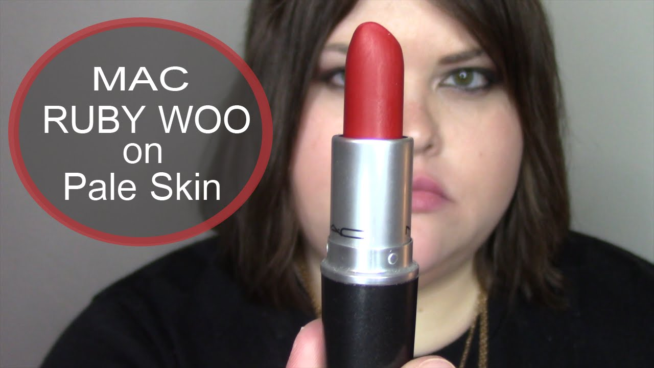 MAC | Ruby Woo (on pale skin) #ThePaintedLipsProject - YouTube