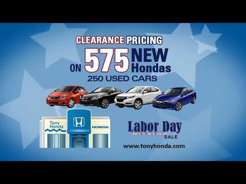 Labor Day Sale - Tony Honda