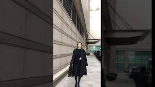 윤지스셀렉 프리미엄 수리알파카 라펠코트