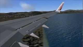 FS2004: Landing at Airport of Malaga / Spain with Air Berlin B737