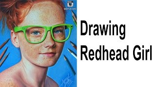 Drawing Redhead Girl