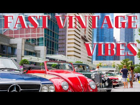 Running Into Super And Vintage Classic Cars In Singapore At Fullerton Hotel World Travel Vlog