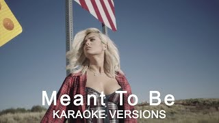 Bebe Rexha ft  Florida Georgia Line - Meant To Be ( Karaoke Version No Vocal )