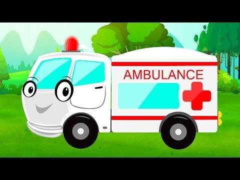 Ambulance | Car Garage | Garage Game | Video for Children & babies