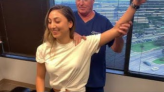 Houston Chiropractor Dr Greg Johnson Adjust New Jersey Lady For First Time Ever