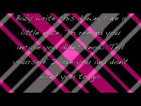 Write this down-George Strait-Lyrics on the screen!