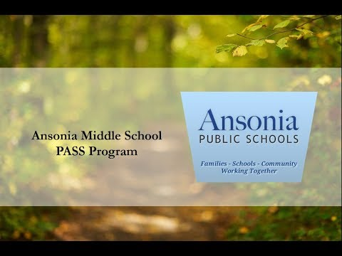 Jessica Bedosky and Steve Marchetti, Speak about Ansonia Middle School's P.A.S.S. Program