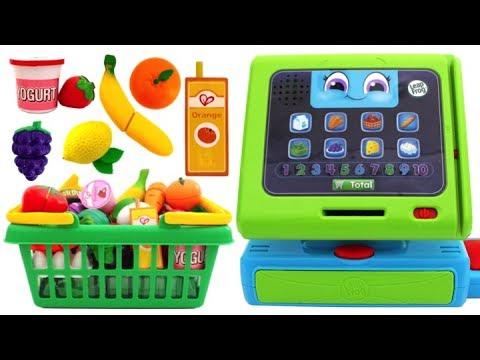 Food Shop Pretend Play Kitchen Surprise Eggs Fruit & Vegetables