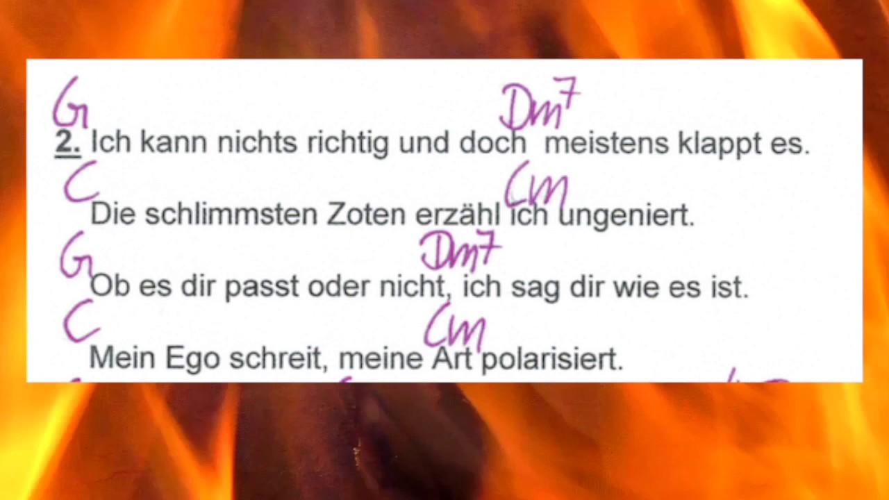 Ich bin die - Ina Müller - Lyrics and Chords - Campfire