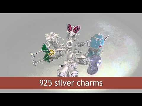 925 silver charms wholesale from Thailand manufacturer. Sterling silver pendants charms.