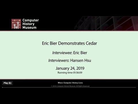 Eric Bier Demonstrates Cedar