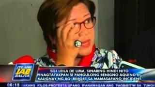 De Lima, hindi pinagtatakpan si Pres. Benigno Aquino III sa BOI Report