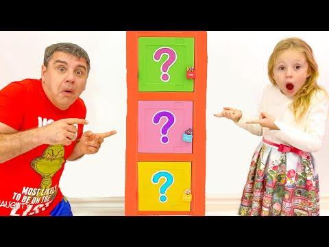 Настя и папа - весёлые соревнования и челлендж с игрушками