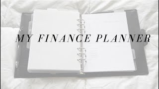 A Look Into My Finance Section   A5 Filofax Calipso
