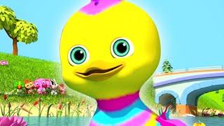 Five Little Ducks | Kindergarten Nursery Rhymes for Children | Kids Cartoons
