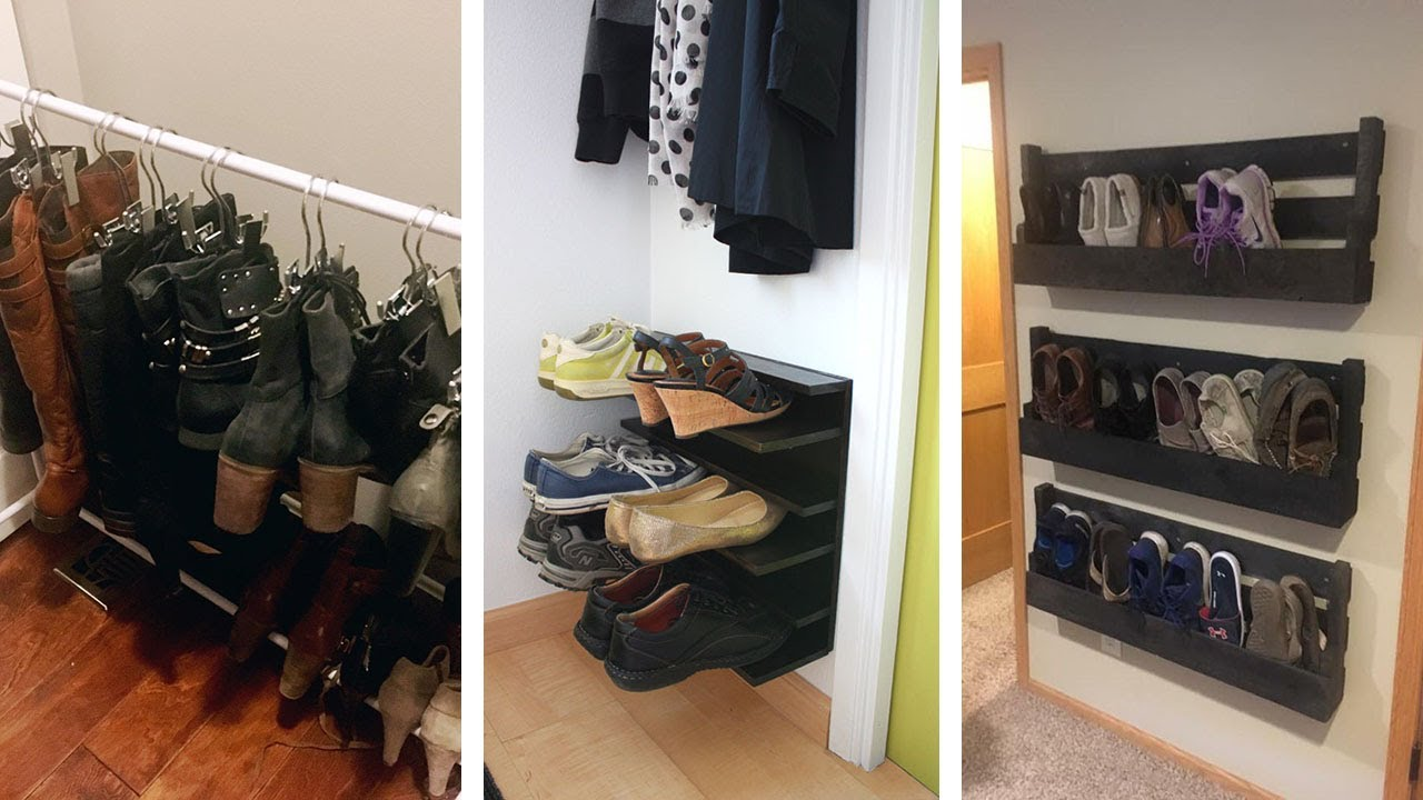 24 Super Practical Shoes Storage Ideas To Organize Your Shoes Youtube