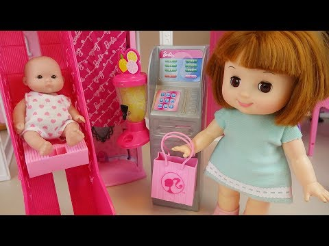 Thumbnail: Baby doll and slide house toys playing baby sitter