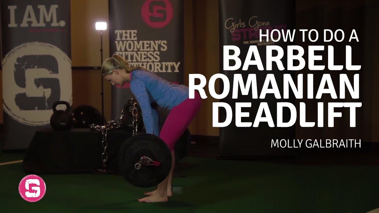 rdl form woman  Barbell Romanian Deadlift - Girls Gone Strong