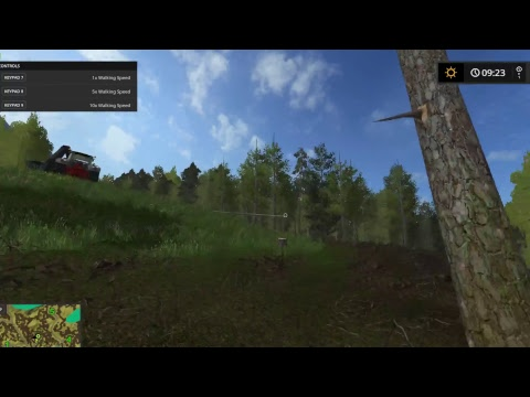 Farming Simulator 17   Logging   Testing out the new WINCH mod