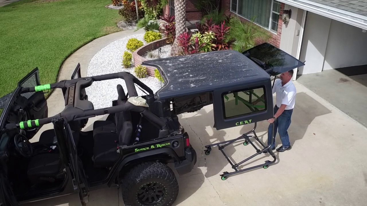 Top Lift Pros Hardtop Lift system - YouTube