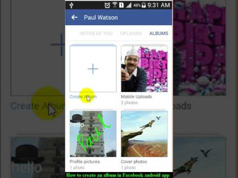 How To Create An Album In Facebook Android App
