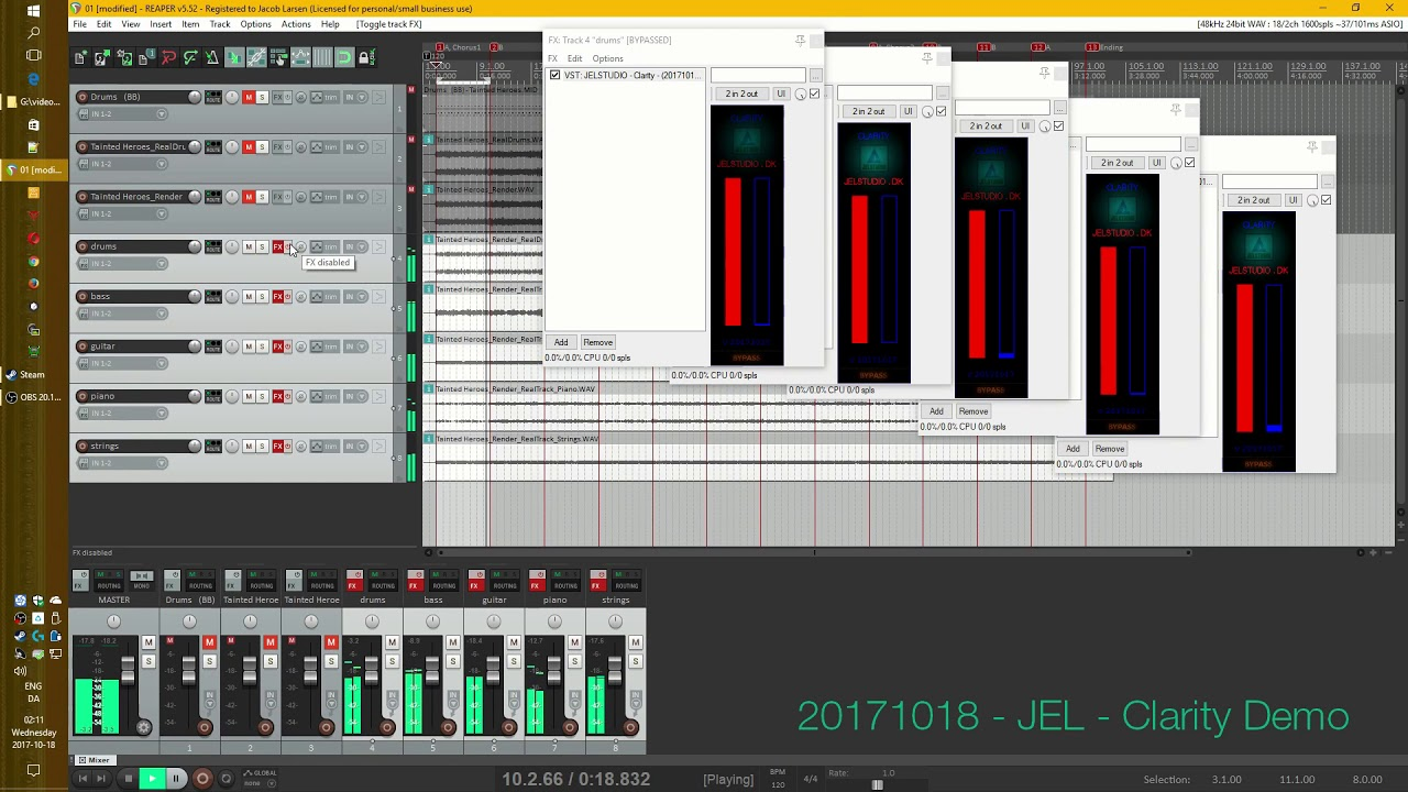 Demonstration of VST plugin