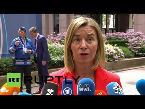 Belgium: 'There are no half members' of the EU, Mogherini warns Britain