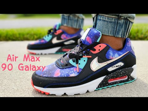 Air Max 90 Galaxy Supernova Unboxing On Feet Youtube